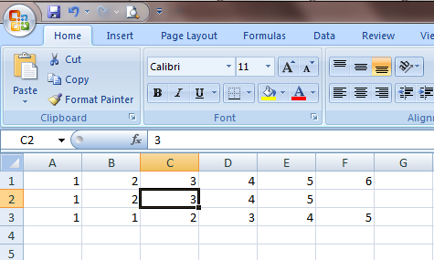 Excel 2007 Cell Delete