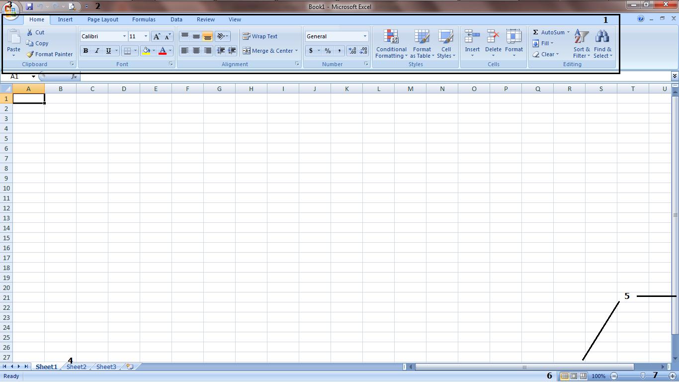 Antarmuka Microsoft Excel 2007