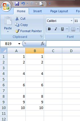 Excel 2007 Range Skip Blanks