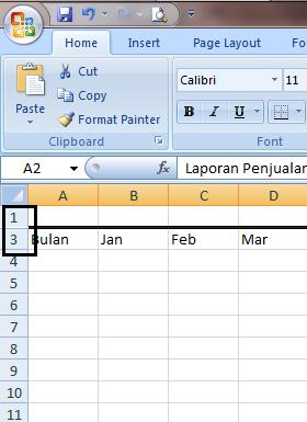 Excel 2007 Row Hide