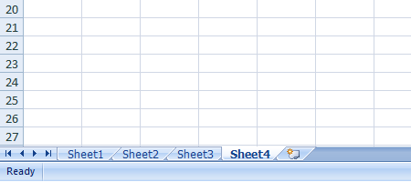 Excel 2007 Worksheet Insert