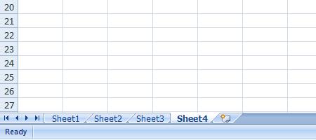 Excel 2007 Worksheet Insert