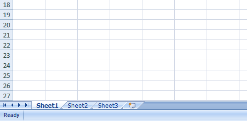 Excel 2007 Worksheets