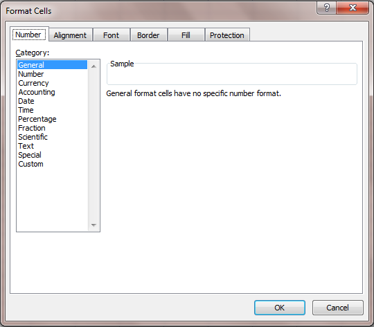 Excel 2007 Format Cell