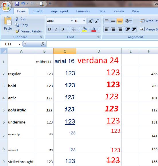 Excel 2007 Format Painter