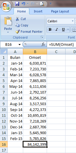 Excel 2007 Formula dan Fungsi
