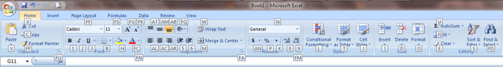 Excel 2007 Shortcut