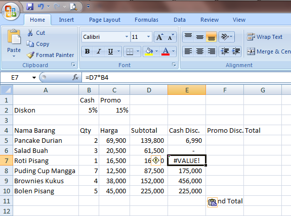 Excel 2007 Cell Reference