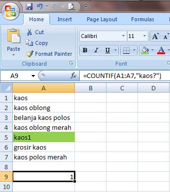 Excel 2007 Fungsi COUNT dan SUM