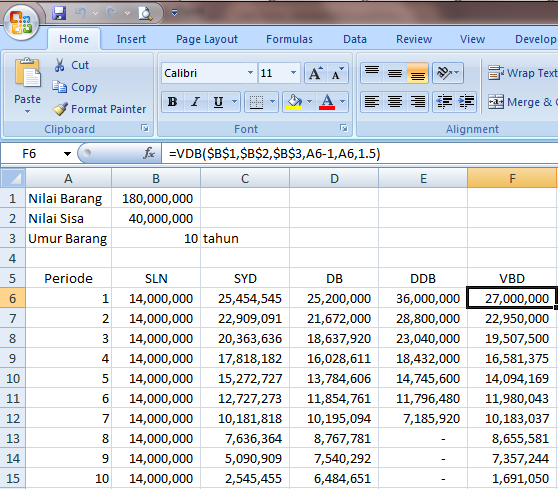 Excel 2007 Fungsi Finansial