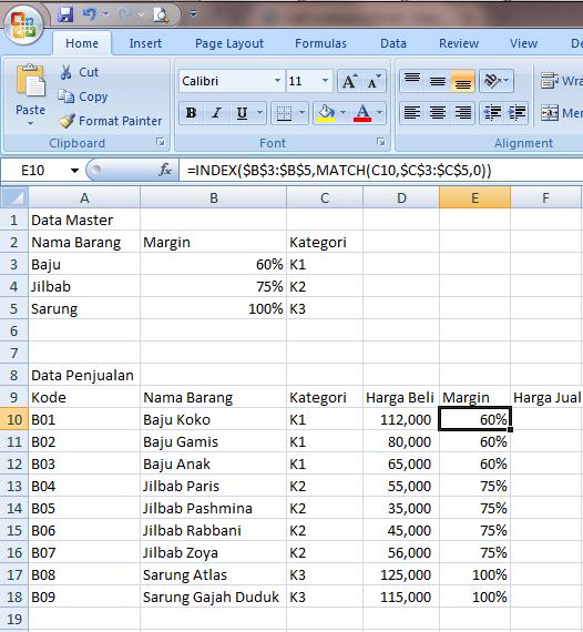 Excel 2007 Fungsi Lookup dan Reference