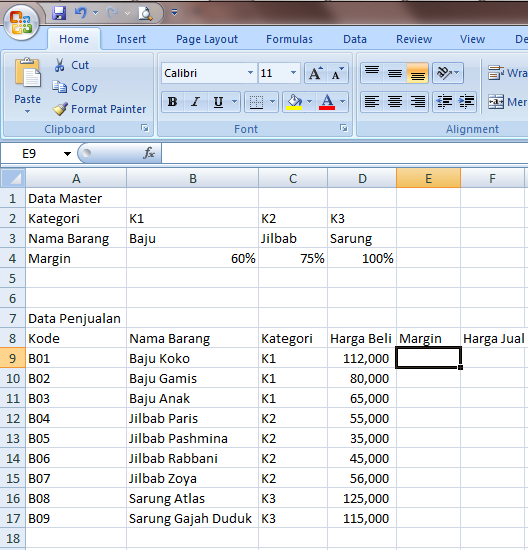 Excel 2007 Fungsi Lookup dan Reference