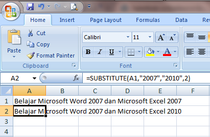 Excel 2007 Fungsi Text