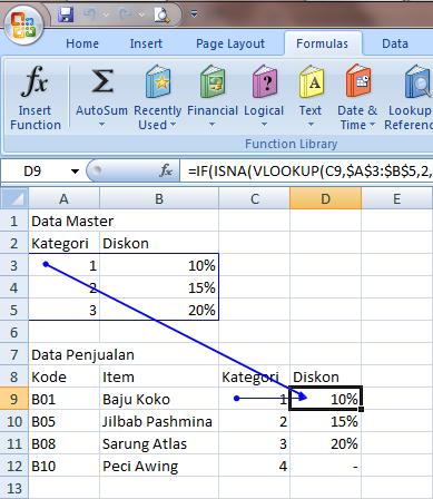 Excel 2007 Formula Errors