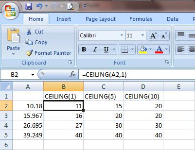 Excel 2007 Fungsi Round