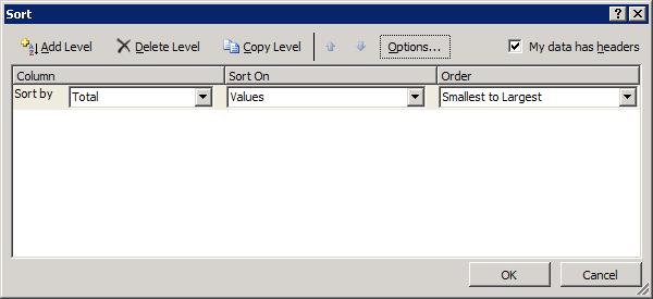 Excel 2007 Sorting