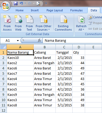 Excel 2007 Filtering