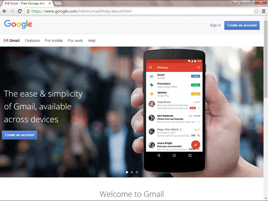 cara membuat daftar akun email baru di gmail