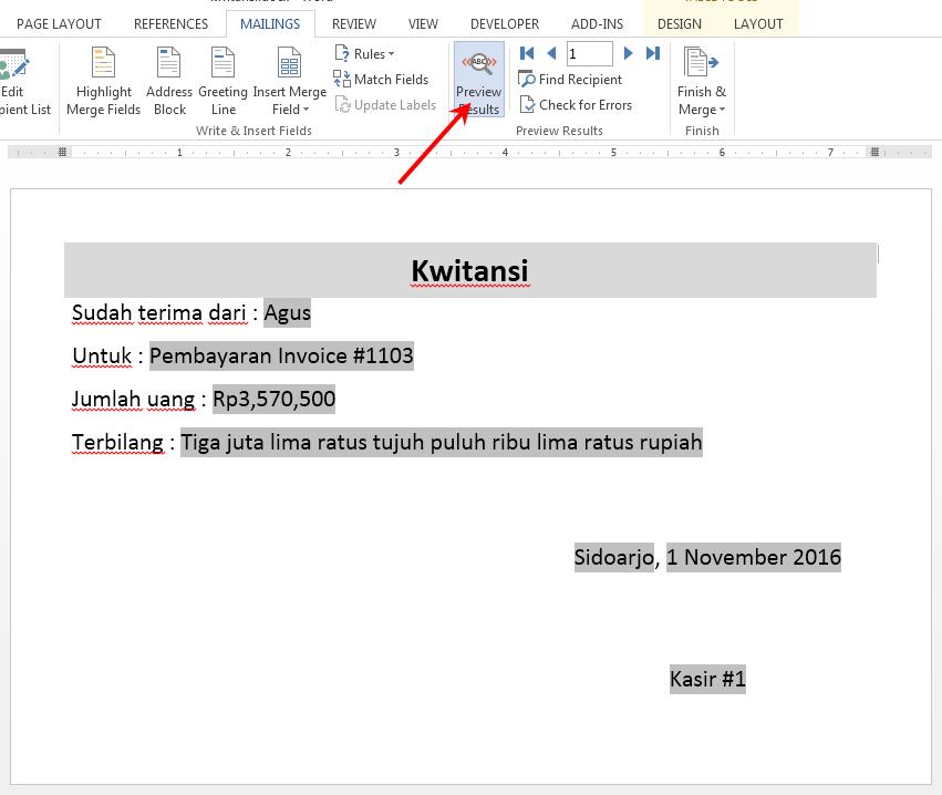 Program Cetak Kwitansi