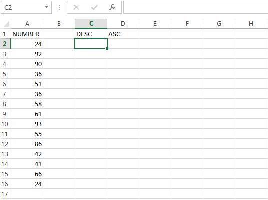 Mengurutkan Data dengan Rumus Excel